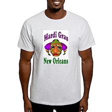 Mardi Gras Jester Ash Grey T-Shirt