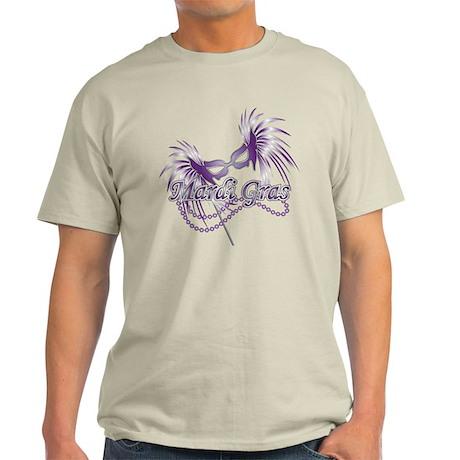 Purple Mardi Gras Mask Light T-Shirt