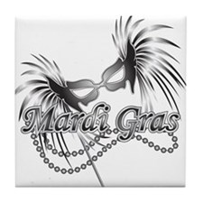 Mardi Gras Mask Tile Coaster