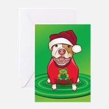 A Pit Bull in a Bear Tee Greeting Card