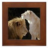 Lion framed tile Framed Tiles