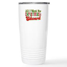 Christmas Edward Travel Mug