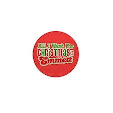 Christmas Emmett Mini Button
