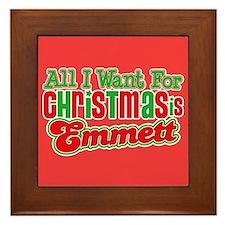 Christmas Emmett Framed Tile