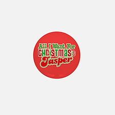 Christmas Jasper Mini Button