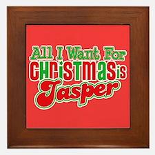 Christmas Jasper Framed Tile