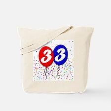 33rd Birthday Tote Bag