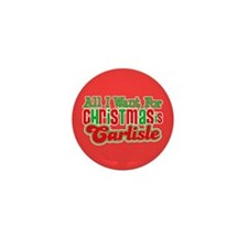 Carlisle Christmas Mini Button