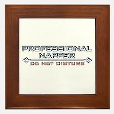 Professional Napper Framed Tile