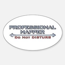 Professional Napper Oval Decal