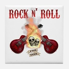 Rock n' Roll 4 Ever Tile Coaster