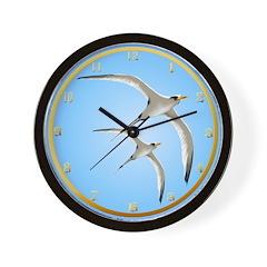 Two Tropic Birds Framed Wall Clock