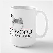 oddFrogg Akita Woo Hello Mug