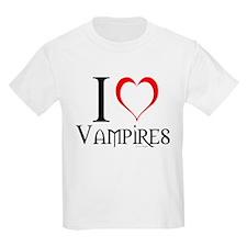 I <3 Vampires (front) who don T-Shirt