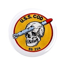 "USS COD 3.5"" Button (100 pack)"