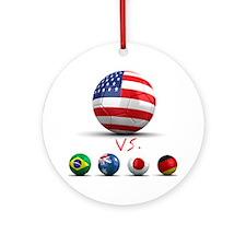 USA vs The World Ornament (Round)