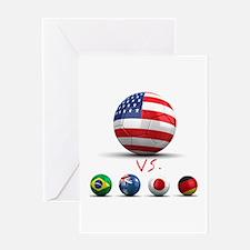 USA vs The World Greeting Card