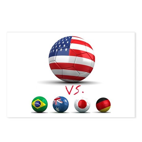 USA vs The World Postcards (Package of 8)