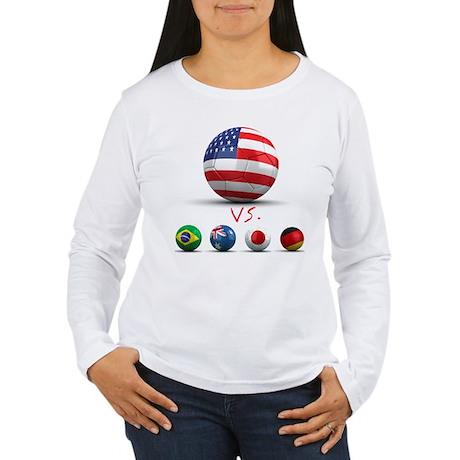 USA vs The World Women's Long Sleeve T-Shirt