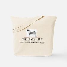 Akita Woo Woo Tote Bag