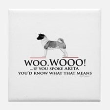 Akita Woo Woo Tile Coaster