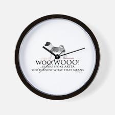 Akita Woo Woo Wall Clock