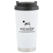 Akita Woo Woo Travel Mug