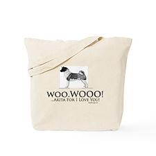 oddFrogg Akita Love Tote Bag