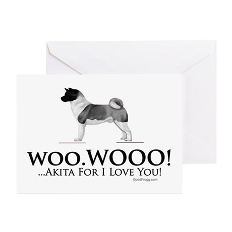 oddFrogg Akita Love Greeting Cards (Pk of 10)