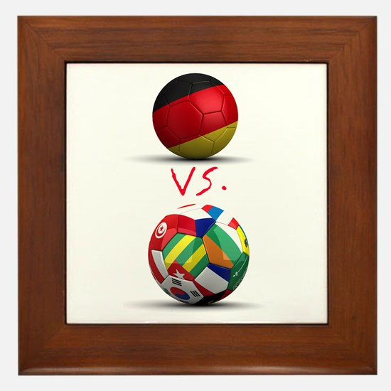Germany Vs The World Framed Tile