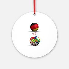 Germany Vs The World Ornament (Round)