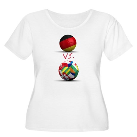Germany Vs The World Women's Plus Size Scoop Neck