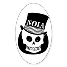 NOLa Sign Oval Decal