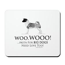 oddFrogg Akita Big Dogs Need Love Mousepad