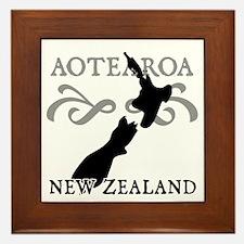 Aotearoa New Zealand Framed Tile