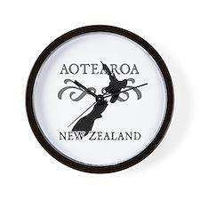 Aotearoa New Zealand Wall Clock