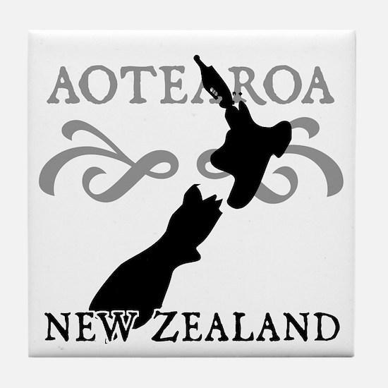 Aotearoa New Zealand Tile Coaster