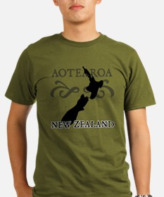Aotearoa New Zealand Organic Men's T-Shirt (dark)
