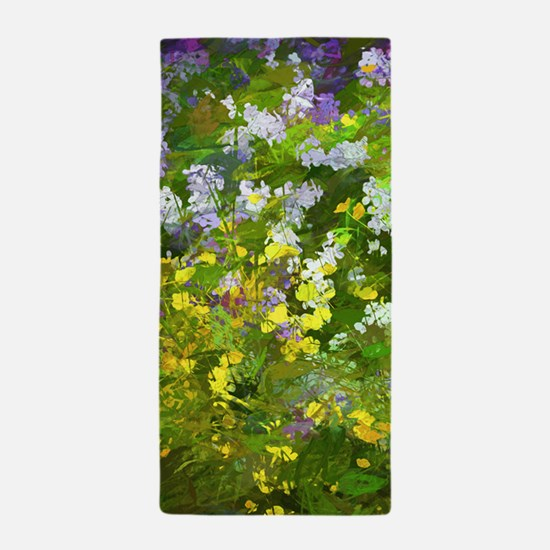 Maine Impasto Wildflowers Beach Towel
