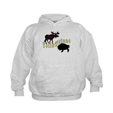 Bison Moose Yellowstone Kids Hoodie