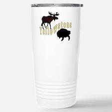 Bison Moose Yellowstone Travel Mug