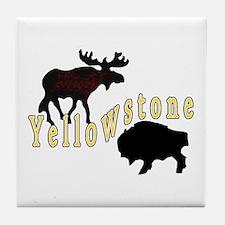 Bison Moose Yellowstone Tile Coaster
