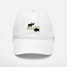 Bison Moose Yellowstone Baseball Baseball Cap