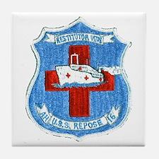 USS REPOSE Tile Coaster