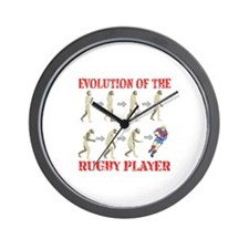 Rugby Evolution Wall Clock