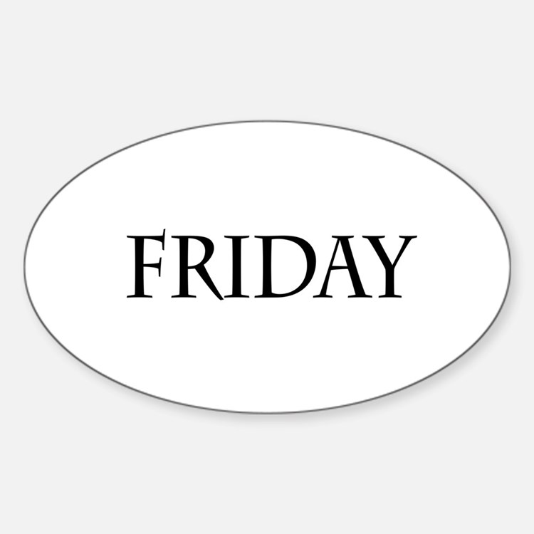 Black Friday Oval Stickers