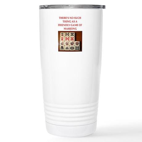 mahjong Stainless Steel Travel Mug