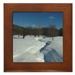 Winter Creek Framed Tile