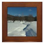 Winter Creek Framed Tile