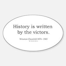 Winston Churchill 25 Oval Decal